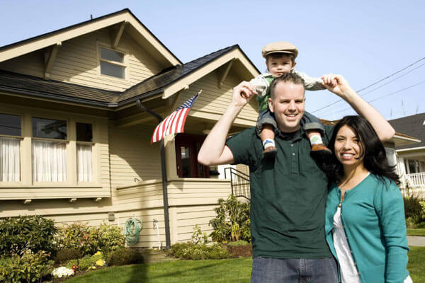 Locksmith services for family in front of residential home